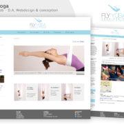 Création du site Web Fly Yoga ©Virginie Boullé