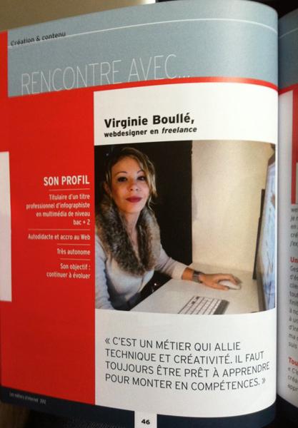 """Extrait de l'interview, Guide """"Les métiers d'Internet"""" ONISEP"""