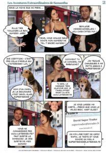 """Création de la Bande dessinée """"Les aventures extraordinaires de Samantha"""" pour LeTrader"""